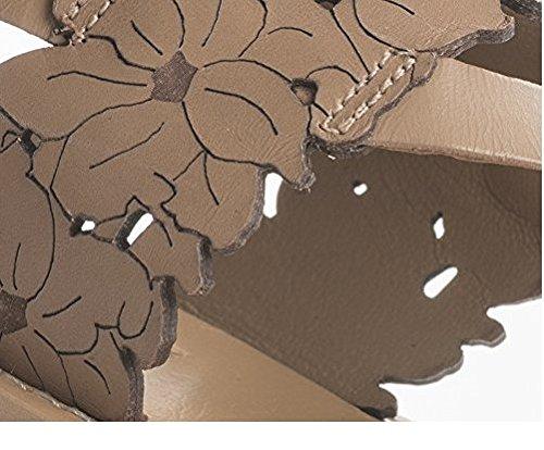 Sandalia De Cuero Twin Set Laserato Double Hebilla De Tacón Bajo N37