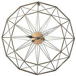 PeleusTech® Wall Clock, 23.6inch Oversized Modern 3D Silent Large Wall Clock - (Golden + Black)