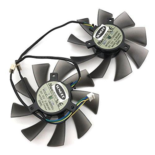 T129025SU 12V 0.38A 4PIN for ASUS HD7970 HD7950 GTX680 DirectCU II fan (2PCS/LOT) by Z.N.Z (Image #5)