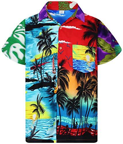 (V.H.O. Funky Hawaiian Shirt, Shortsleeve, Mondy, Multicoloured, 3XL)