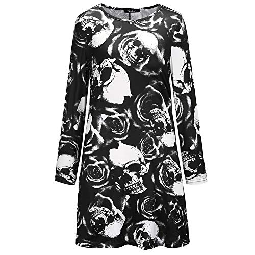 XMNDS Womens 50s Pin Up Halloween Dress Costume Rockabilly Cocktail Party Dress -