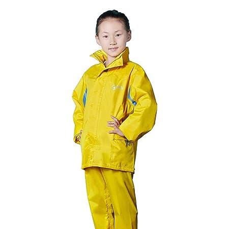 YueOutdoor Chubasquero para niños Pantalón para Lluvia Traje ...