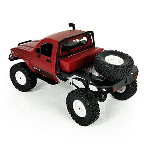 Pulison(TM) 1:16 WPL C14 Scale 2.4G 2CH 4WD Mini Off-road RC Semi-truck RTR Kids Climb Truck (red)