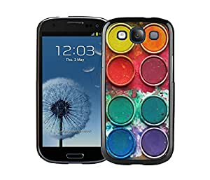 Elegant Samsung Galaxy S3 Black Case I9300 Watercolor Sets With Brushes Art Phone Cover Accessories