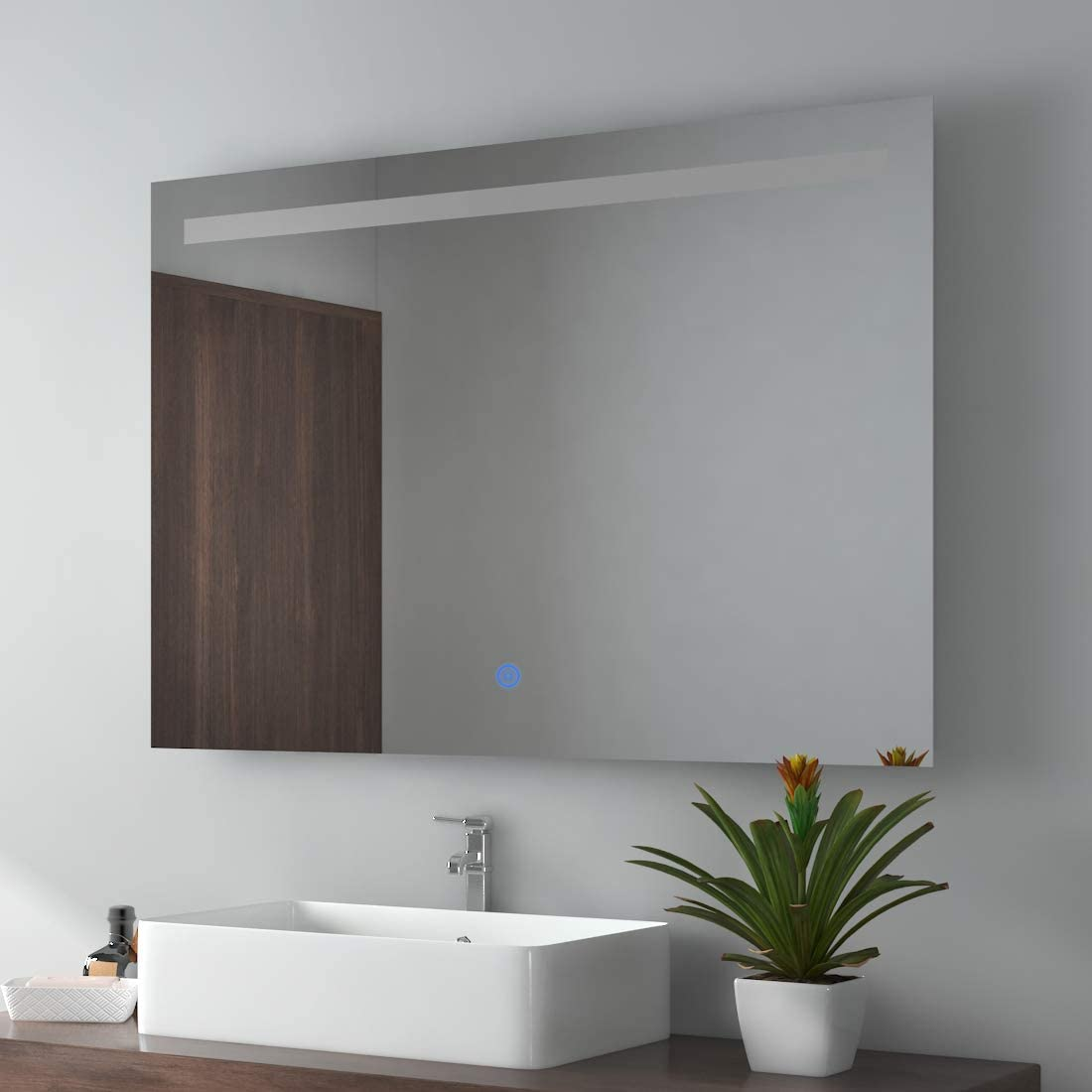 luce bianca calda con illuminazione specchio da bagno a LED Emke
