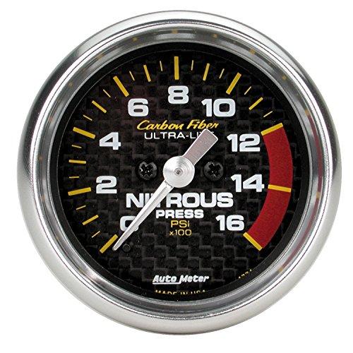 - Auto Meter 4774 Carbon Fiber Electric Nitrous Pressure Gauge
