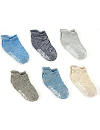 Toddler Thick Winter Warm Cotton Socks with Non-Slip for Active baby, 1-4T.(6pp)