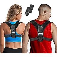Posture Corrector for Women & Men + Bonus Underarm Pads, Adjustable Clavicle Brace Perfect for Shoulder Support, Upper Back Correction, Medical Kyphosis Trainer Under Clothes INSPIRATEK