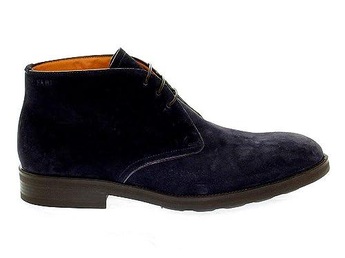 Fabi Hombre Fu7100blu Azul Gamuza Zapatos: Amazon.es: Zapatos y complementos