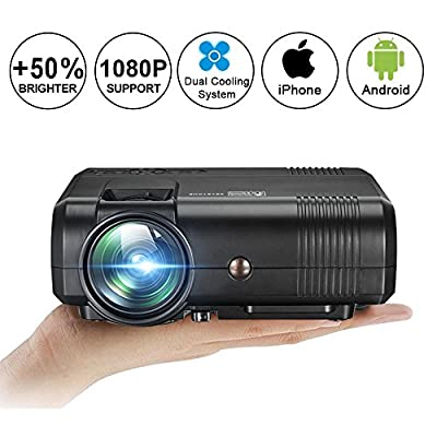 Projector,Weton Video Projecto Mini Movie Home Theater Projector