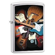 Zippo Lighter: Fender Guitars - Brushed Chrome 76608
