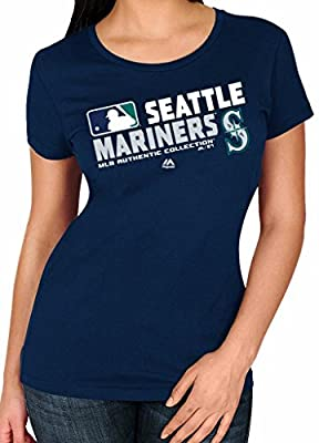 MLB Women's Authentic Collection Team Choice T-Shirt (Xlarge, Seattle Mariners)