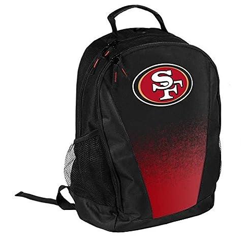 NFL Football Team Logo Gradient Print Primetime Deluxe Backpack (San Francisco 49ers) - San Francisco 49ers Nfl Football