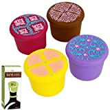 Avery Barn 4pc Ornate Pattern Design Reusable Silicone Cap Wine Stopper - Set 3 offers