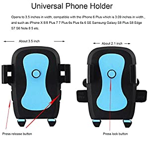 [2pack]Universal Air VentPhone Car,iBarbe Smartphone Car Air Vent Mount Holder Cradle Compatible with iPhone X 8 8 Plus 7 7 Plus SE 6s 6 Plus 6 5s 5 4s 4 Samsung Galaxy S6 S5 S4 LG More-Blue+Yellow