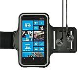 Black Sports Armband for Nokia Lumia 929 / Nokia