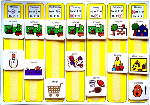 - Plastic Visual ASD Weekly Planner (Picture Communication Symbols)