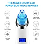 Blackhead Remover, Beakmil Electric Blackhead Vacuum Suction Remover, Skin Facial Pore Cleaner, Acne Comedone Extractor Tool Set, Comedo Exfoliating Machine with 5 Adjustable Suction