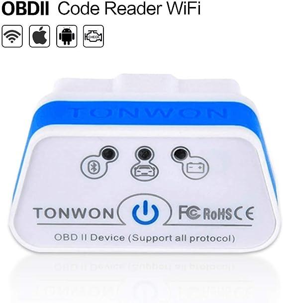 TONWON OBDII Adaptador de Tool Escáner de Diagnóstico OBDII Compruebe motor de vehículo Light