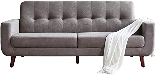 Romatpretty Living Room Couch, Fabric Sofa, Armchair Sofa, Modern Loveseat Sofa,Lnnovative Vintage Medieval Design, Button Tufted, Extremely Minimalist Design, Long Couch, Suitable for Living Room and