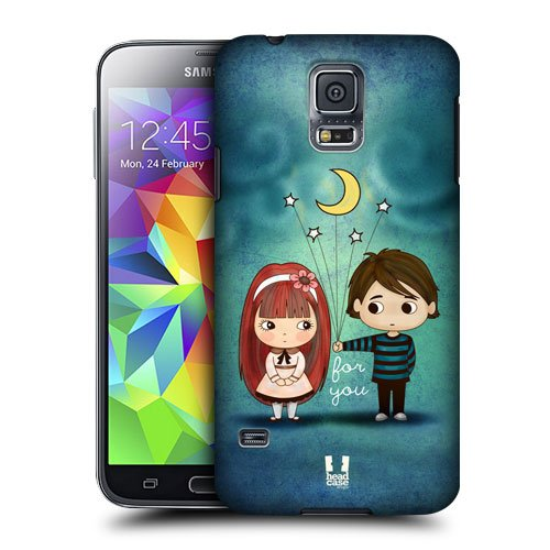 Head Case Designs Give You the Moon and Stars Cute Emo Love Protective Snap-on Hard Back Case Cover for Samsung Galaxy S5