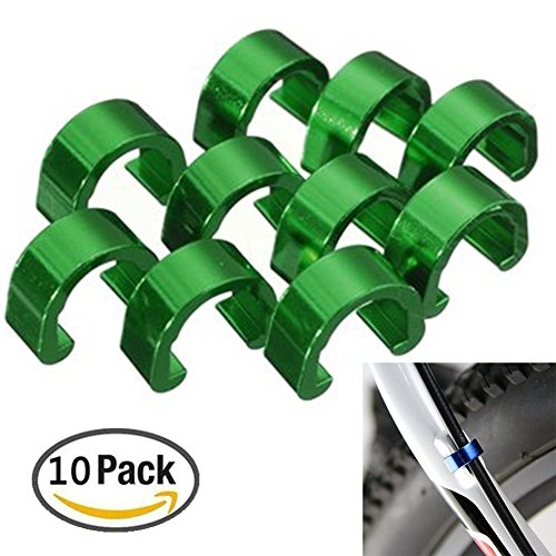 digi-Hunter 10Pcs Bicycle C-Clips Buckle Cable Guides Brake Hose Housing Road Mountain (Bike Buckle)