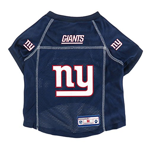 NFL Licensed New York Giants Pet Jersey, Sm, Navy Giants Woven Polyester