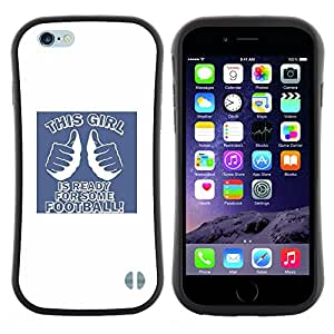 Pulsar iFace Series Tpu silicona Carcasa Funda Case para Apple (4.7 inches!!!) iPhone 6 / 6S (4.7 INCH) , Cita Partido Frat Uni""
