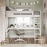 Dorel Living DA6580W Harlan Loft Bed, White