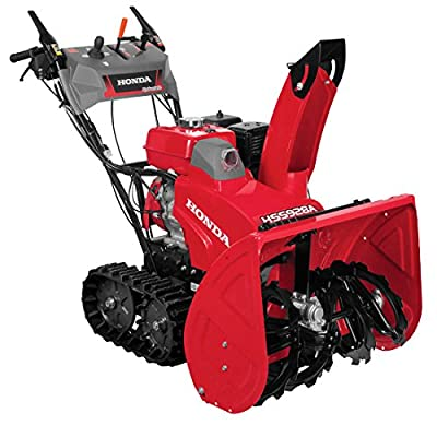 "Honda Power Equipment HSS928AAT 28"" Hydrostatic Track Drive 2-Stage Gas Snow Blower with Electric Joystick Chute Control"