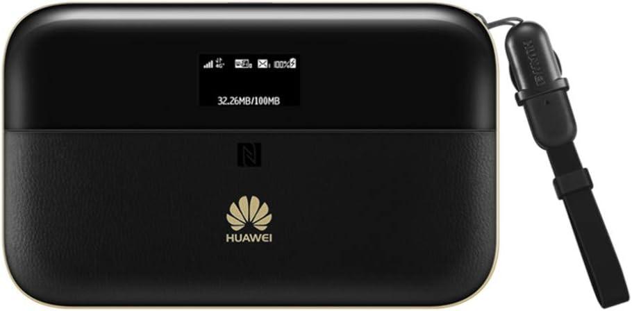 Huawei E5885Ls-93a - Wi-Fi Móvil (300Mbps de conexión inalámbrica, Wi-Fi hotspot móvil con 6400mAh de batería, banda dual 2.4G&5G, ranura tarjeta SIM/Micro SD, hasta un máximo de 32 usuarios), neg
