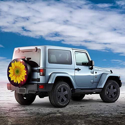 スペア タイヤ カバー タイヤ 収納 保管カバー ひまわり 車用 16 Inch
