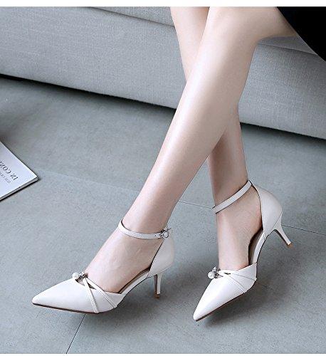 IRANDA Damen Knöchelriemchen Gebrochenes Weiß
