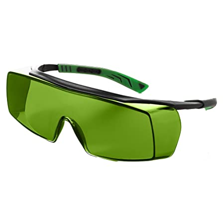 2609a5e855f Univet 5X7 Over Specs Welders Aid Safety Glasses Green IR1.7 Lens   Amazon.co.uk  DIY   Tools