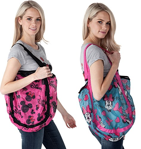 and Mouse 2 Minnie Tote amp; Mesh Blue Mickey Hobo Beach Pack Pink Disney w5qBtt