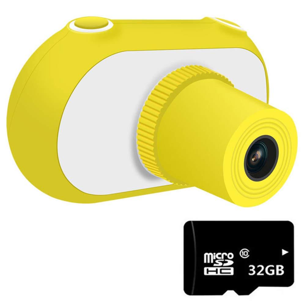 se descuenta Cámaras Cámaras Cámaras Digitales para niños 1.5 Pulgadas Mini videocámaras para niños pequeños, con Tarjeta de Memoria de 32GB TF, Ideal para niños,amarillo  gran descuento