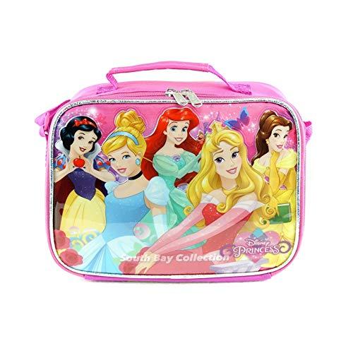 Princess Lunch Bag - Disney Princesses Embossed School Lunch Box Bag : Pink
