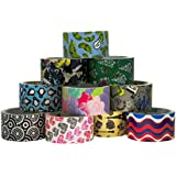 """10 Rolls Bulk Lot Pack Duck Duct Tape Colored Patterns Designs 1.88"""" x 30' Decorative Crafts Wallet"""