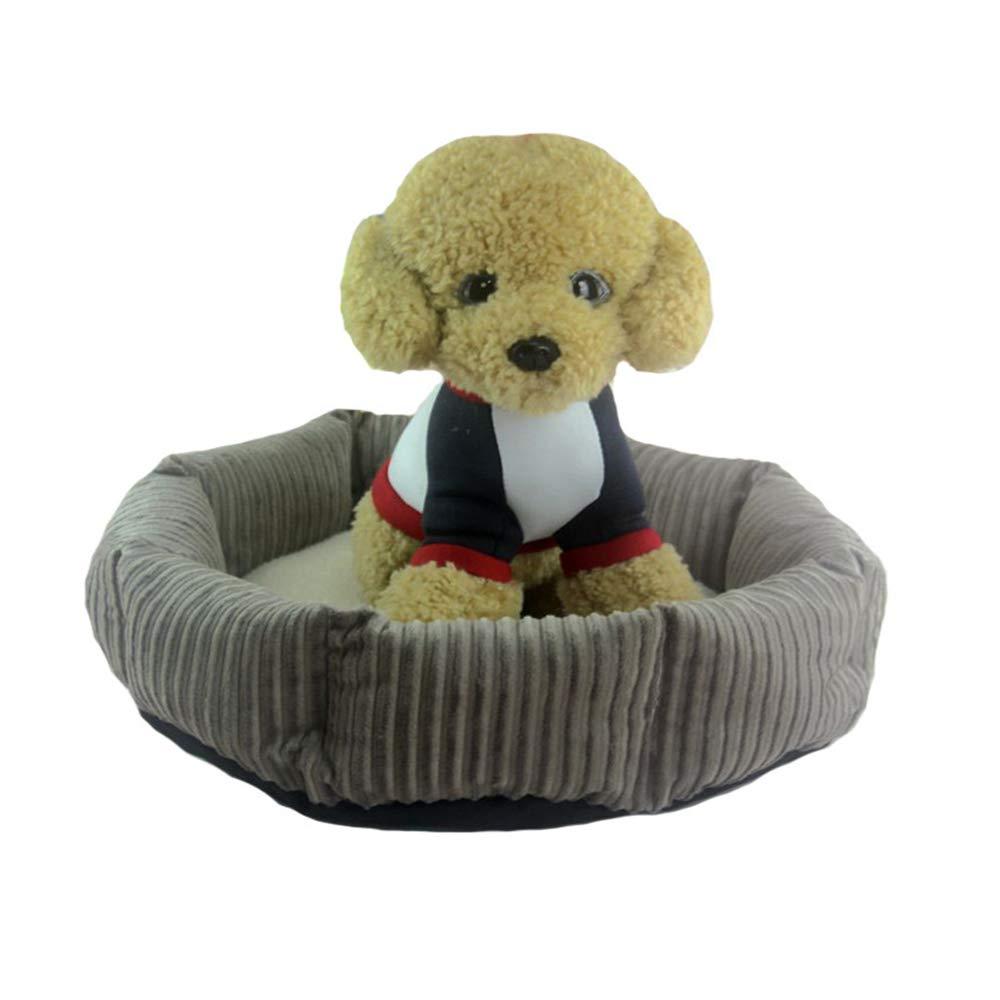 Grey mat M 454515cm Grey mat M 454515cm ZfgG Pet Nest Cute Soft Pet Nest Anti-Skid Dog Cat Bed Off Sleeping Bag Small Pet Sleeping Pad Four Seasons Available Winter Warm (color   Grey mat, Size   M 45  45  15cm)
