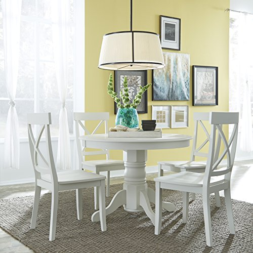 Amazon Com Classic White 5 Piece 42 Quot Round Dining Set By