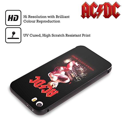 Officiel AC/DC ACDC Tout Lotta Rosie Titres De Chanson Noir Étui Coque Aluminium Bumper Slider pour Apple iPhone 6 Plus / 6s Plus
