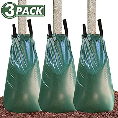 Tree Watering Bag 20 Gallon Watering Bag for Trees with Heavy Duty Zipper Premium PVC Tree Bags Slow Release Drippers Bag for Trees