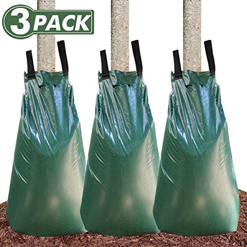 Remiawy Tree Watering Bag, 20 Gallon Slow Release Watering Bag Trees, Tree Irrigation Bag Made Durable PVC Material Zipper (3 Pack)