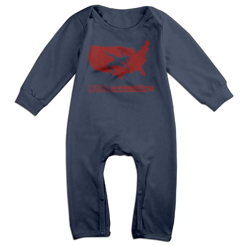 GOOD BBBaby Baby Boy Girl Printed USA Wrestling Playsuit Outfit Clothes