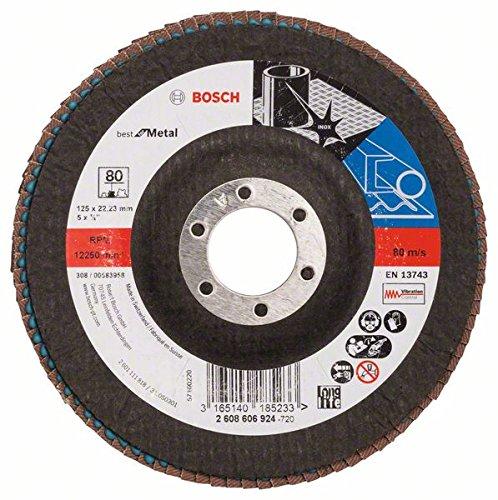2 opinioni per Bosch 2608606924- Disco lamellare, diametro 125 mm, diametro foro 22,23 mm, 80