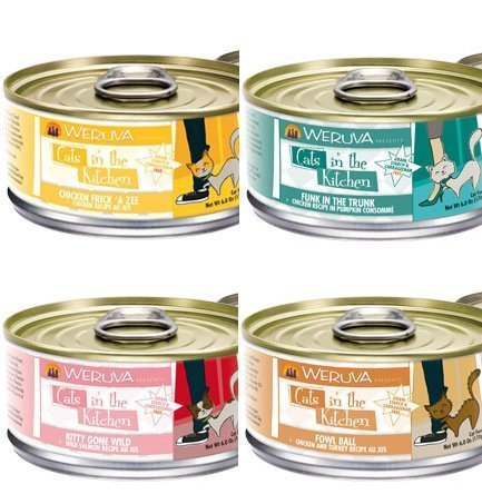 Weruva Cats in the Kitchen Variety Pack Cat Food Cans (24, 6-oz (White Gold Salmon)