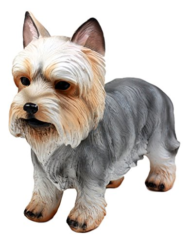 Figurine Terrier (Ebros Gift Groomed Adorable Yorkshire Terrier Dog Statue 7.75