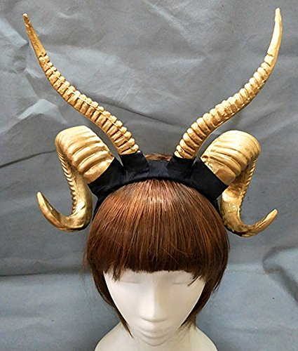Gothic Antler Sheep Horn Hoop Headband Forest Animal Photography Manual Cosplay KC Headpieces Party Accessories Katoot by Katoot
