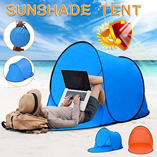 Leey Strandmuschel, ragbar Extra Light Strandzelt, Pop Up Strandzelt UV Schutz, Sun Shelter für 2-3 Personen,Familien Portable Beach Zelt in Blau, Outdoor Tragbar Wurfzelt