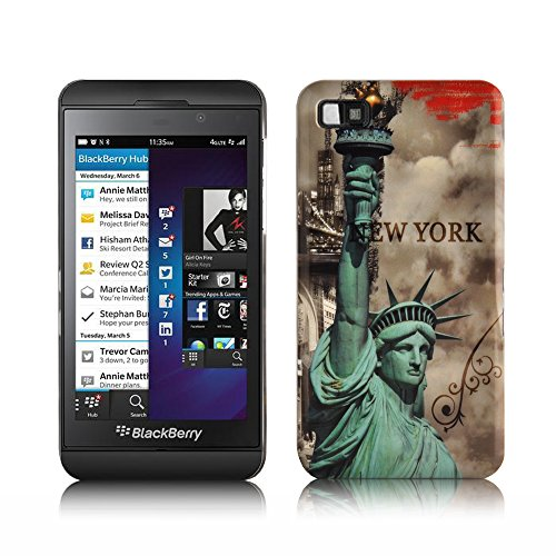Cadorabo - Hard Case Back Cover Works with BlackBerry Z10 - Bumper Protection Skin Design: Statue of ()